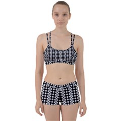 Black And White Texture Perfect Fit Gym Set