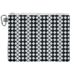 Black And White Texture Canvas Cosmetic Bag (xxl) by Simbadda