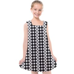 Black And White Texture Kids  Cross Back Dress