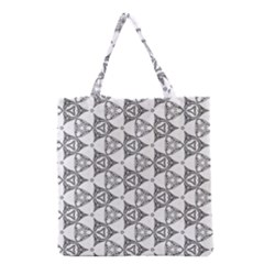 Black And White Pattern Grocery Tote Bag
