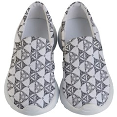 Black And White Pattern Kid s Lightweight Slip Ons by Simbadda