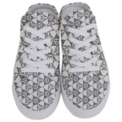 Black And White Pattern Half Slippers
