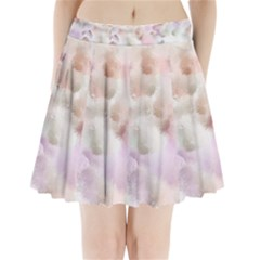 Watercolor Seamless Texture Pleated Mini Skirt