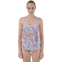 Watercolor Seamless Texture Twist Front Tankini Set
