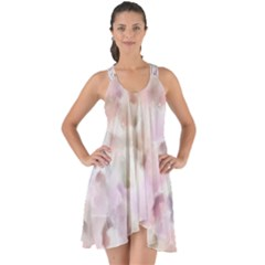 Watercolor Seamless Texture Show Some Back Chiffon Dress