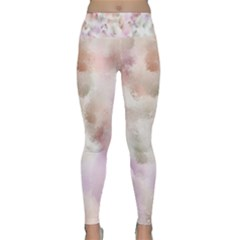Watercolor Seamless Texture Lightweight Velour Classic Yoga Leggings