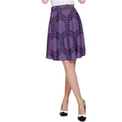 Hexagon Grid Geometric Hexagonal A Line Skirt