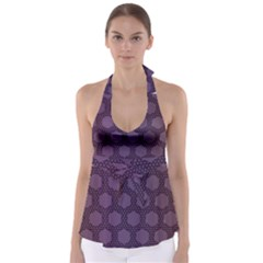 Hexagon Grid Geometric Hexagonal Babydoll Tankini Top