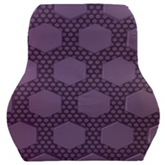 Hexagon Grid Geometric Hexagonal Car Seat Back Cushion  by Simbadda