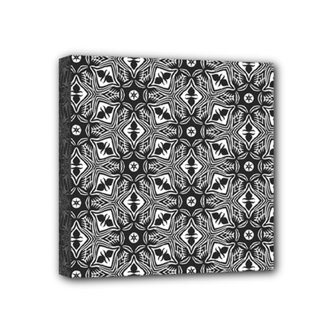 Black And White Pattern Mini Canvas 4  X 4  (stretched)