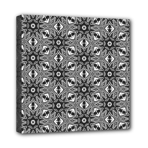 Black And White Pattern Mini Canvas 8  X 8  (stretched)