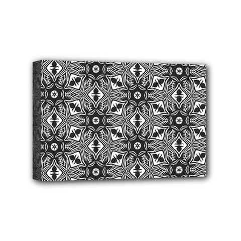 Black And White Pattern Mini Canvas 6  X 4  (stretched)