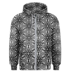 Black And White Pattern Men s Zipper Hoodie