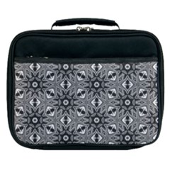 Black And White Pattern Lunch Bag