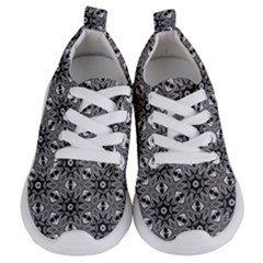 Black And White Pattern Kids  Lightweight Sports Shoes