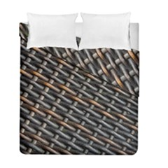 Rattan Wood Background Pattern Duvet Cover Double Side (full/ Double Size)