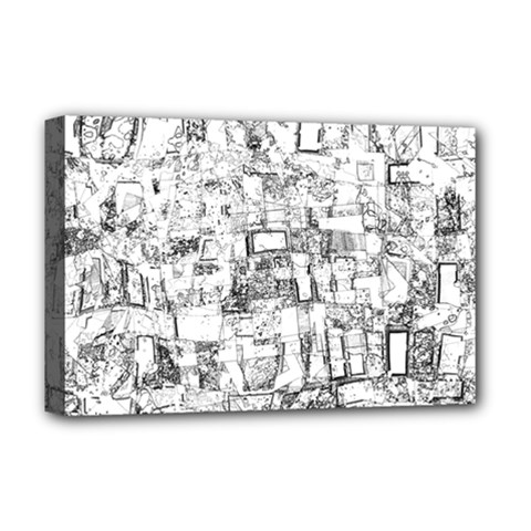 Black And White Background Wallpaper Pattern Deluxe Canvas 18  X 12  (stretched)