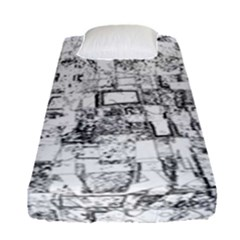 Black And White Background Wallpaper Pattern Fitted Sheet (single Size)
