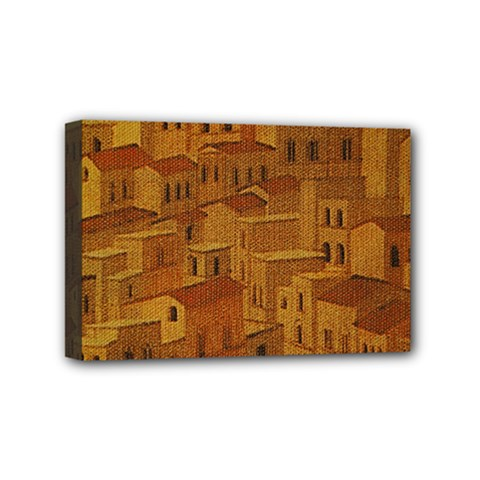 Roof Building Canvas Roofscape Mini Canvas 6  X 4  (stretched)
