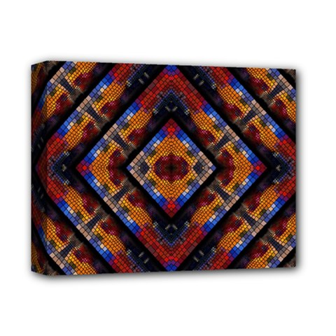 Kaleidoscope Art Pattern Ornament Deluxe Canvas 14  X 11  (stretched)