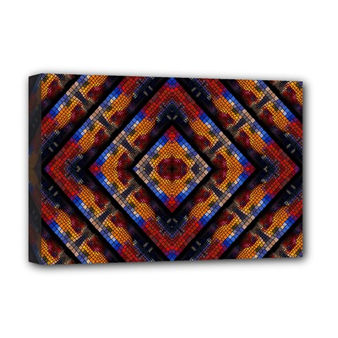 Kaleidoscope Art Pattern Ornament Deluxe Canvas 18  X 12  (stretched)
