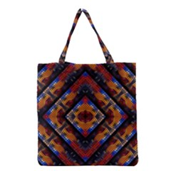Kaleidoscope Art Pattern Ornament Grocery Tote Bag