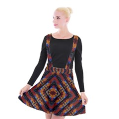Kaleidoscope Art Pattern Ornament Suspender Skater Skirt