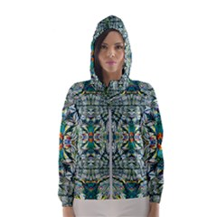 Pattern Design Pattern Geometry Hooded Windbreaker (women)