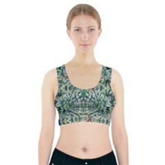 Pattern Design Pattern Geometry Sports Bra With Pocket