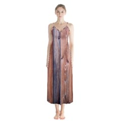 Wood Boards Wooden Wall Wall Boards Button Up Chiffon Maxi Dress