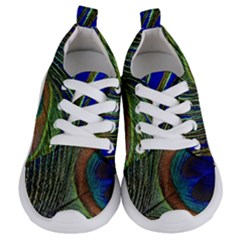 Peacock Feather Macro Peacock Bird Kids  Lightweight Sports Shoes
