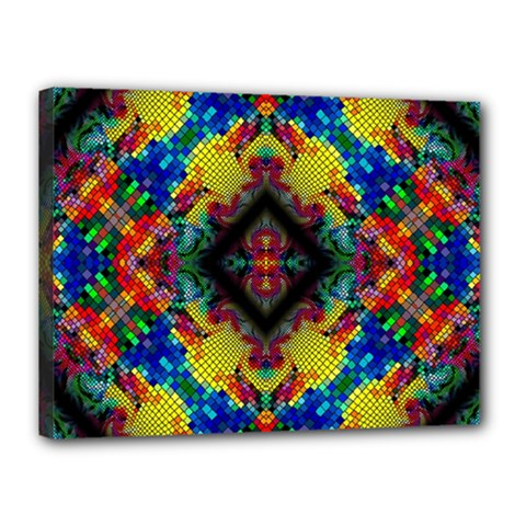 Kaleidoscope Art Pattern Ornament Canvas 16  X 12  (stretched)