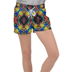 Kaleidoscope Art Pattern Ornament Women s Velour Lounge Shorts