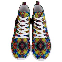Kaleidoscope Art Pattern Ornament Men s Lightweight High Top Sneakers by Simbadda