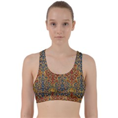 Wall Texture Pattern Carved Wood Back Weave Sports Bra