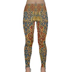 Wall Texture Pattern Carved Wood Lightweight Velour Classic Yoga Leggings
