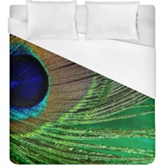 Peacock Feather Macro Peacock Bird Duvet Cover (king Size)
