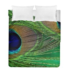 Peacock Feather Macro Peacock Bird Duvet Cover Double Side (full/ Double Size)