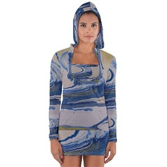 Sun And Water Long Sleeve Hooded T Shirt