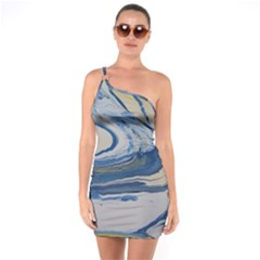 Sun And Water One Soulder Bodycon Dress
