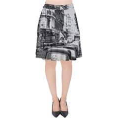 Vintage Paris Street Velvet High Waist Skirt