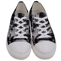 Vintage Paris Street Women s Low Top Canvas Sneakers