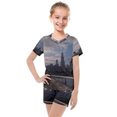 Chicago Jog Path  Kids  Mesh Tee And Shorts Set