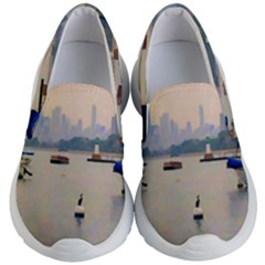 Lake View Of Chicago Kid s Lightweight Slip Ons