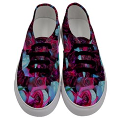 Red And White Roses Men s Classic Low Top Sneakers