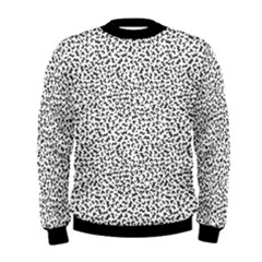 B/w Abstract Pattern 1 Men s Sweatshirt