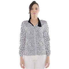B/w Abstract Pattern 1 Windbreaker (women)