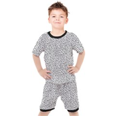 B/w Abstract Pattern 1 Kid s Set