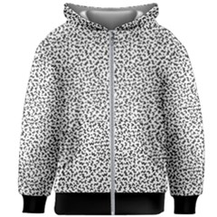 B/w Abstract Pattern 1 Kids Zipper Hoodie Without Drawstring