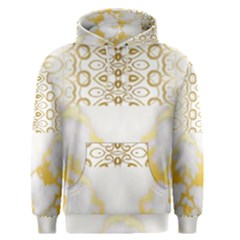 Ivory Marble  In Gold By Flipstylez Designs Men s Pullover Hoodie